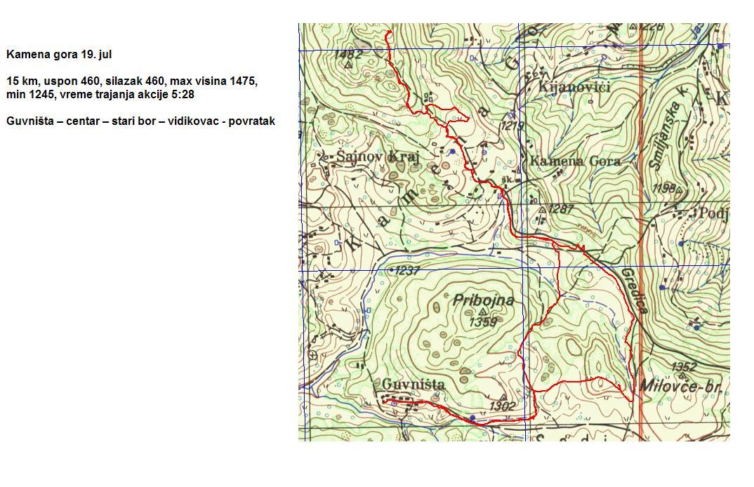 Ravna Gora Mapa Srbija Superjoden