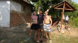 Pobednici na stazi od 40 km Nikola Perać, Davor Pantović i Ivan Simić (foto : Ljubomir Subotić)