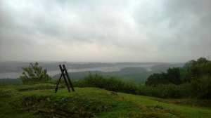 Tmuran pogled sa Erdutske tvrđave par stotina metara pre cilja