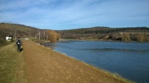 Čak je i na brani jezera bilo naneto žute zemlje