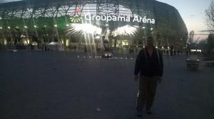 Ispred stadiona Ferencvaroša u Budimpešti